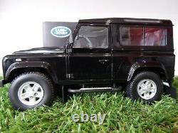 118 Kyosho Land Rover Defender 90 (santorini black) Rare model car