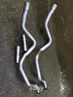 2 X Land rover Discovery 2 Side Exit Exhaust Stainless Steel Off Road Use New