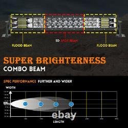 22 42 52'' LED Light Bar 12V Flood Spot Combo Beam Offroad Work Lamp Grill Roof
