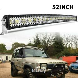 3-Row 52'' LED Light Bar Spot Flood Combo Offroad Fit Land Rover Discovery 1 & 2