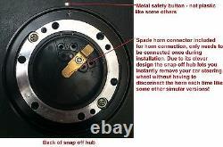 300mm Sports Steering Wheel Snap Off Boss Kit 36 Spline Land Rover Defender Silv