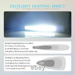 32'' 42'' 52'' Curved Offroad LED Spot Flood Combo Driving Fog Work Light Bar