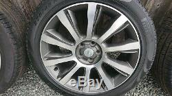 4 x Genuine Range Rover 21 Alloy Wheels DIAMOND TURNED Discovery 3 4 5 VOUGE
