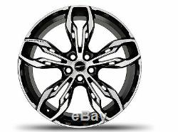 4 x Overfinch 22 Limited Edition Falcon Rims Gloss Black Diamond Turned Wheels