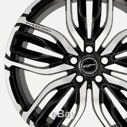 4 x Overfinch Rims 22 Forged Equus Gloss Black Diamond Turned Alloy Wheels