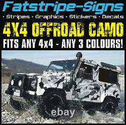 4x4 OFFROAD CAR CAMO GRAPHICS STICKERS DECALS CAMOUFLAGE to fit LAND ROVER