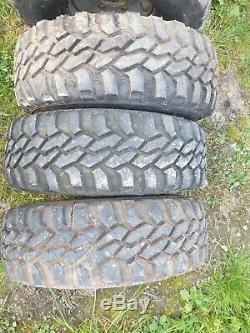 5 X Land Rover 90 110 Defender Wella Steel Wheels & Off Road Tyres 31.10/50 15