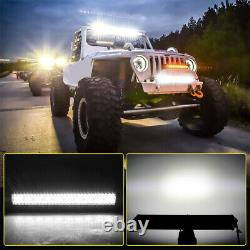 52INCH 3 Row LED Curved Light Bar Combo Beam for OffRoad 4x4 SUV Wiring Harness