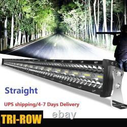 52inch Straight Offroad LED Work Light Bar Driving Lamp Flood Spot Combo Beam