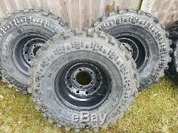 5x Land Rover Defender Discovery 1 Rrc 33x12.50r15 Mud Wheels And Tyres Off Road