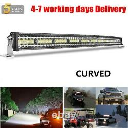 CURVED 52INCH 2800W LED LIGHT BAR DRIVING LAMP FOR OFFROAD 4x4 SUV UTE PickUP