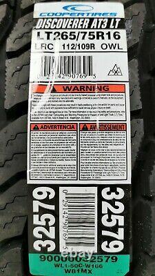 Defender 16 Inch off Road Wheels BORBET Ld 8x16 Et5 265/75R16 Cooper AT3 Lt ABE