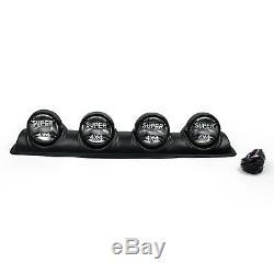 Four White Lens 4X4 Off Road Roof Top Fog Lamp H3 Bulbs Light Bar SUV #2012 T3