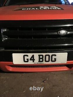 G4 BOG Private Number Plate G4 Challenge Land Rover Off Road 4x4 Range Rover 4WD