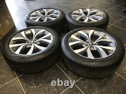 Genuine 2019 Range Rover Evoque L551 5076 diamond turned 20 alloy wheels tyres