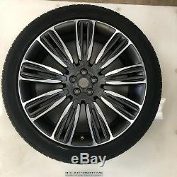 Genuine Range Rover Velar 22 Style 9007 Diamond Turned Alloy Wheels and Tyres