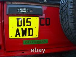 Land Range Rover Discovery dj disco D15 AWD 4WD AWD on/ off road cherished plate