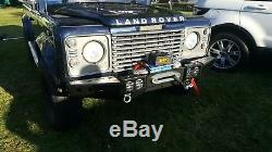 Land Rover Defender 90 110 130 Front Winch Bumper Squared Off Road Protection