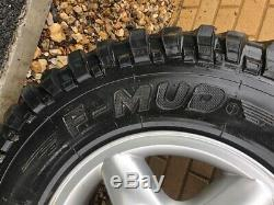 Land Rover Defender / Discovery 1 Alloy Wheels and 4x4 Off Road Tyres 235/85/16