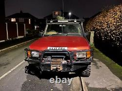 Land Rover Discovery TD5 off road mods with winch, snorkel, steel bumpers guards