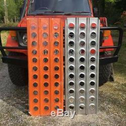 Land Rover Off Road 4mm Orange Aluminium Sand Ladders 1.25m Long