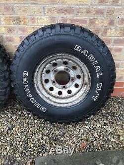Land rover off road tyres and wheels