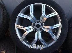 Range Rover Evoque Alloy Wheels Tyres 20 Inch Autobiography Diamond Turned X 4