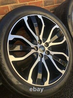Range Rover Sport 21 Inch Diamond Turned Genuine Lr Alloy Wheels Pirelli Tyres