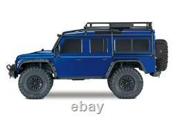 Traxxas 82056-4 TRX-4 Land Rover Defender Blue 110 4WD Rtr Crawler 2.4GHz